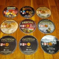 Os vários discos que vêm no conjunto