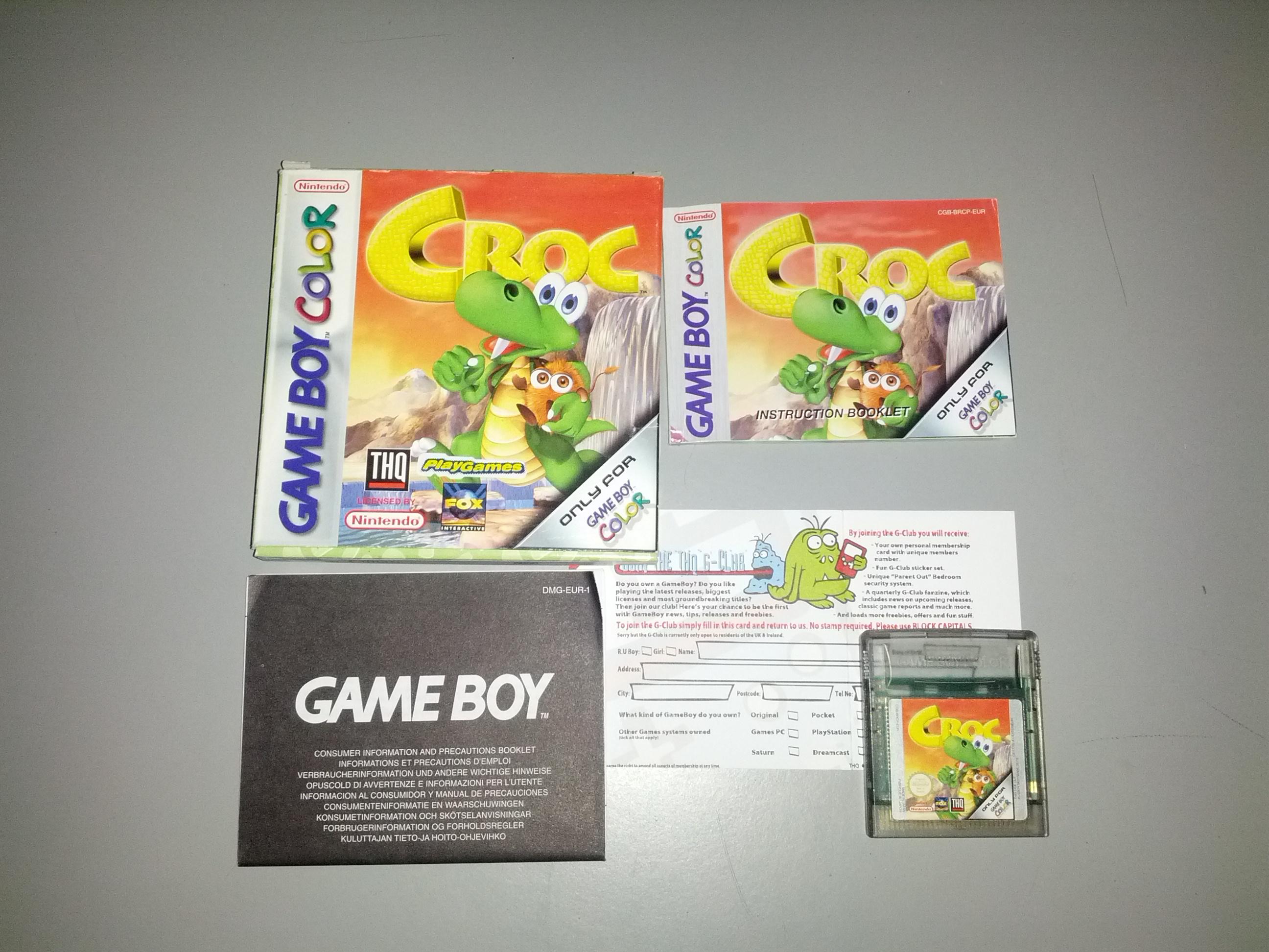 Game boy color quanto custa - Croc Nintendo Gameboy Color
