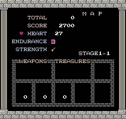 O nosso status screen onde podemos ver o progresso no jogo