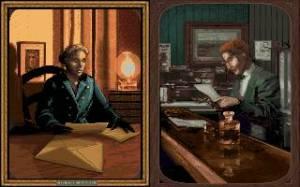 As duas personagens com as quais podemos jogar. Apenas os seus backgrounds diferem, a jogabilidade é idêntica