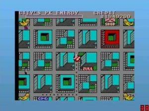 Quando os edifícios piscam a vermelho, estão a ser atacados por fantasmas. Convém chegar lá a tempo