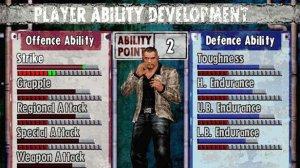 Entre cada missão podemos atribuir alguns skill points a diversas categorias da nossa personagem