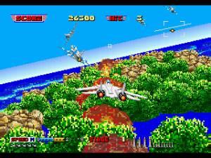 Visualmente o jogo é muito idêntico ao After Burner II para arcade.