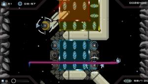 O mecanismo de teletransporte é algo que temos de dominar. E aqui temos também exemplos de interruptores de diferentes cores e numerados que desactivam zonas protegidas com campos de energia