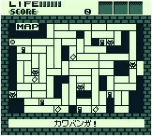 O mapa do jogo, com vários locais de interesse marcados