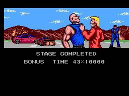 E no final de cada nível temos também uma cutscene com o bandido aprisionado e alguns diálogos que servem para avançar na história