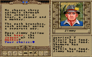 Tal como no Ultima VI, as palavras chave que desencadeiam novos diálogos aparecem sobressaídas
