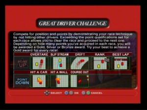 Great Driver Challenge é uma das novidades trazidas na conversão da Playstation 2