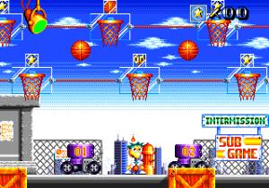 O nível de bónus consiste em acertar com algumas bolas de basquetebol num dos cestos que circulm pelo ecrã. No fim é-nos galardoado um número para um PIN que nos desbloqueia o final secreto