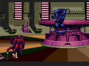 Os combates contra os bosses são sempre épicos como manda a lei. Aliás, o nível na base do Magneto é provavelmente o meu preferido.
