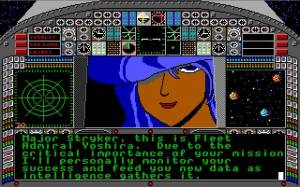 Antes de cada missão temos um briefing com esta senhora que se está também constantemente a fazer ao piso. O Major Stryker vai ter sorte quando voltar.