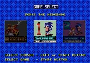 O ecrã de selecção de jogos, não é muito diferente de alguns Mega Games