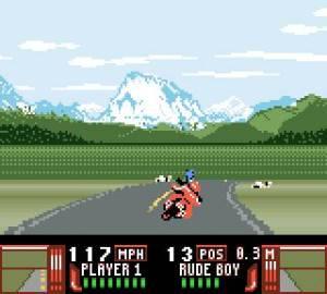 Apesar de ter aquele efeito bonito de não estarmos a percorrer uma estrada plana, devo dizer que gostei mais do resultado da Game Gear