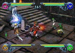 O modo The Duel, com recurso ao multitap, permite pancadaria até com 4 amigos!