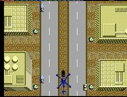 Visto de cima, Thunder Blade é um jogo algo banal, pois nesta versão perdeu-se o efeito 3D característico da versão arcade