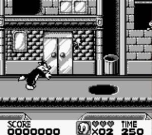 Neste jogo nem todos os níveis são de puro platforming, aqui temos de estar constantemente a fugir de Sylvester e outros obstáculos