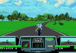 Não gostei muito destes gráficos digitalizados, o Road Rash II envelheceu melhor