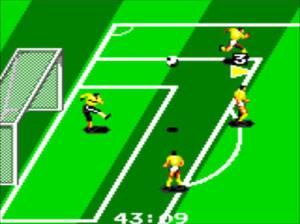 Tal como na versão Master System fica a faltar o mostrador do resultado, para além do tempo de jogo.