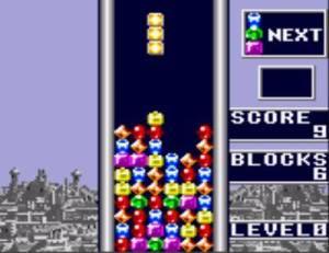Os backgrounds vão mudando de cor com o decorrer do jogo.