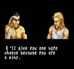 Acho estas imagens entre cada combate bem mais interessantes do que as do Street Fighter II