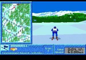Graficamente parece um jogo impressionante, mas em movimento nota-se que a Mega Drive tem dificuldade em acompanhar.