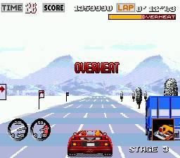 Abusar do turbo resulta em sobreaquecimento do carro. Mesmo na neve!
