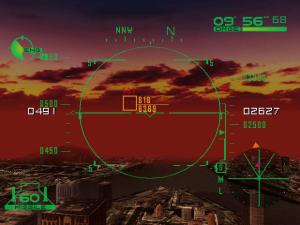 É só esperar um pouco até o alvo ficar locked e depois é pressionar um botão e ver os mísseis a atingirem o alvo