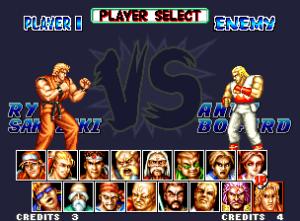 O FF Special traz um ecrã de selecção de lutadores bem maior