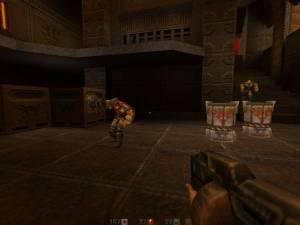 Uma das inovações do Quake II eram as marcas deixadas nos inimigos