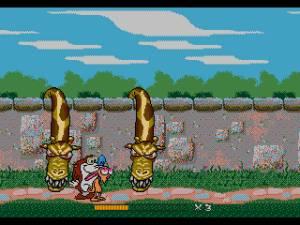 Girafas carnívoras! O jogo é tão bizarro como os cartoons e isso é bom!